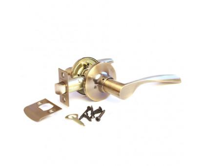 Дверная ручка-защелка Сириус 200-05 AB бронза проходная