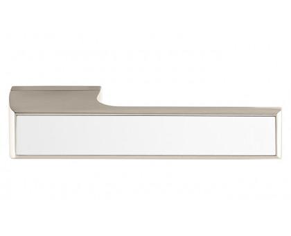 Дверная ручка Tupai Melody Vario 3089 RE никель 142 + вставка белый глянец