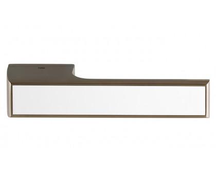 Дверная ручка Tupai Melody Vario 3089 RE титан 141 + вставка белый глянец