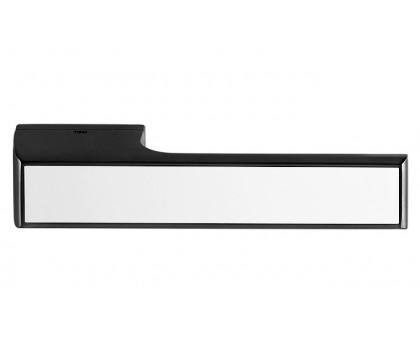 Дверная ручка Tupai Melody Vario 3089 RE черная 153 + вставка белый глянец