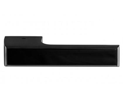 Дверная ручка Tupai Melody Vario 3089 RE черная 153 + вставка черный глянец