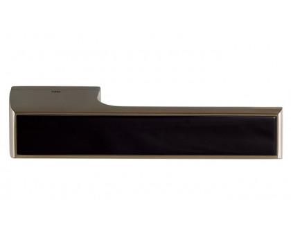 Дверная ручка Tupai Melody Vario 3089 RE титан 141 + вставка черный глянец