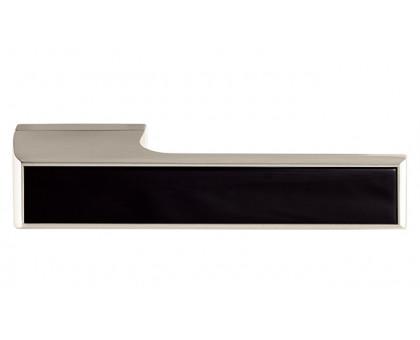 Дверная ручка Tupai Melody Vario 3089 RE никель 142 + вставка черный глянец