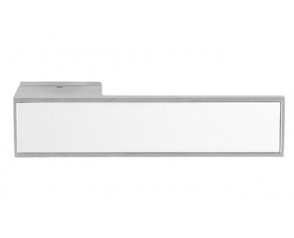 Дверная ручка Tupai BIQ Line Vario 3084 RE матовый хром 96 + вставка белый глянец