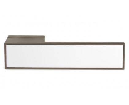 Дверная ручка Tupai Melody BIQ Line Vario 3084 RE титан 141 + вставка белый глянец