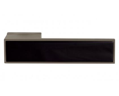 Дверная ручка Tupai Melody BIQ Line Vario 3084 RE титан 141 + вставка черный глянец