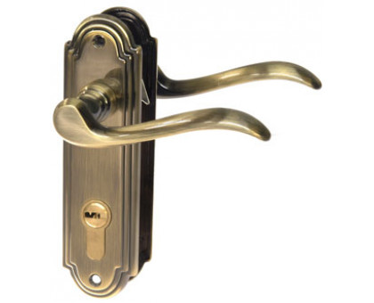 Ручка дверная на планке Valley 1-06 под цилиндр