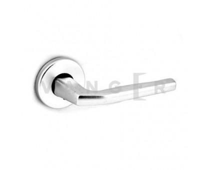 Дверная ручка Vanger H-1667-A-P-CRS матовый алюминий без пружины