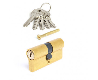 Цилиндровый механизм Vanger EL-60-G золото ключ/ключ