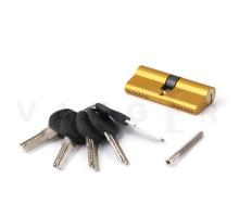 Цилиндровый механизм Vanger HM-70-G золото ключ/ключ, с перфорацией