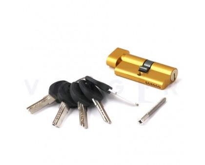 Цилиндровый механизм Vanger HM-60-C-G золото ключ/верт., с перфорацией