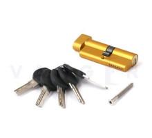 Цилиндровый механизм Vanger HM-70-C-G золото ключ/верт, с перфорацией