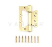 Петля дверная без врезки Vanger 100мм золото 100*75*2,5-P2-G