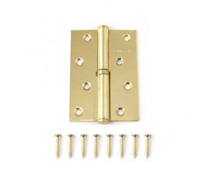 Петля дверная съемная Vanger 100мм золото 100*70*2,5-P-G-L левая