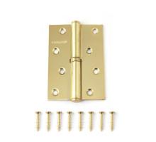 Петля дверная съемная Vanger 100мм золото 100*70*2,5-P-G-R правая