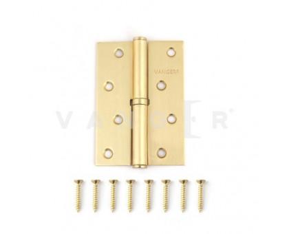 Петля дверная съемная Vanger 100мм мат. золото 100*70*2,5-P-GM-L левая