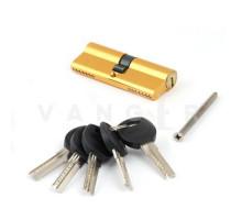 Цилиндровый механизм Vanger HM-80-G золото ключ/ключ, с перфорацией