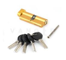 Цилиндровый механизм Vanger HM-80-C-G золото ключ/верт., с перфорацией