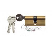Ключевой цилиндр Venezia 60мм полиров. латунь ключ/ключ