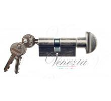 Ключевой цилиндр Venezia 60мм антич. серебро ключ/вертушка