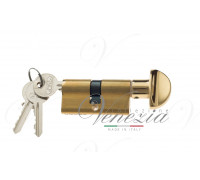 Ключевой цилиндр Venezia 60мм полиров. латунь ключ/вертушка