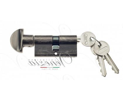 Ключевой цилиндр Venezia 70мм серебро антич. ключ/вертушка