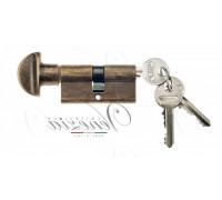 Ключевой цилиндр Venezia 70мм бронза антич. ключ/вертушка