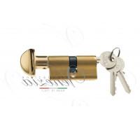 Ключевой цилиндр Venezia 70мм ключ/вертушка полиров. латунь