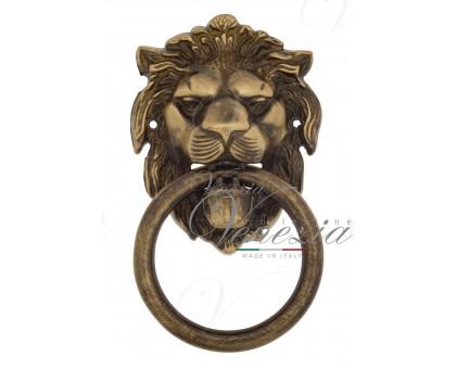 Дверная ручка стучалка (молоток) Venezia Leone бронза лакир.