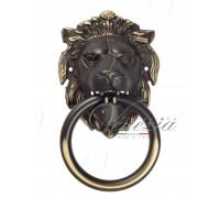 Дверная ручка стучалка (молоток) Venezia Leone темная бронза