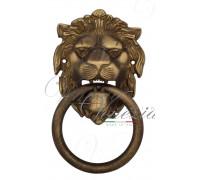 Дверная ручка стучалка (молоток) Venezia Leone бронза матовая