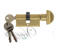 Ключевой цилиндр Venezia 60мм франц. золото ключ/вертушка
