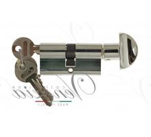 Ключевой цилиндр Venezia 60мм полир. хром ключ/вертушка