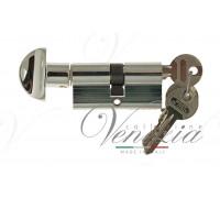 Ключевой цилиндр Venezia 70мм ключ/вертушка полиров. хром