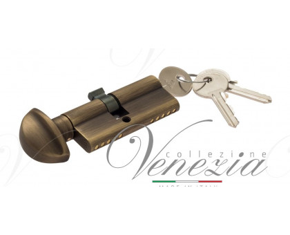 Ключевой цилиндр Venezia 70мм (40/30Т) ключ/вертушка бронза мат.