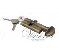 Ключевой цилиндр Venezia 70мм (30/40Т) ключ/вертушка бронза мат.