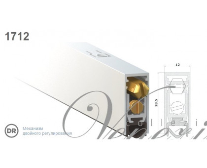 Дверной автопорог-уплотнитель врезной Venezia 1712/900мм, регулировка 2-х уровневая