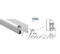 Дверной автопорог-антипорог накладной Venezia 1460GD/700мм для стеклянной двери, регулировка 1 уровень, серебристый