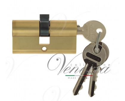 Ключевой цилиндр Venezia 70мм ключ/ключ франц. золото