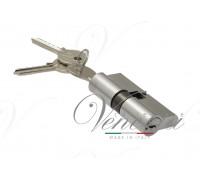 Ключевой цилиндр Venezia 70мм ключ/ключ хром мат.