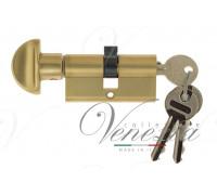 Ключевой цилиндр Venezia 70мм ключ/вертушка франц. золото