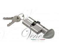 Ключевой цилиндр Venezia 70мм ключ/вертушка хром мат.
