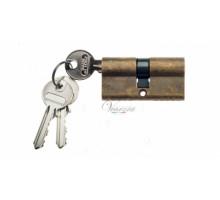 Ключевой цилиндр Venezia 70мм (30/40) ключ/ключ бронза антич.