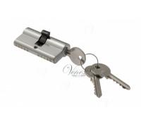 Ключевой цилиндр Venezia 70мм (30/40) ключ/ключ хром мат.