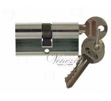 Ключевой цилиндр Venezia 70мм (30/40) ключ/ключ хром полиров.