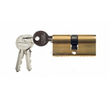 Ключевой цилиндр Venezia 70мм (30/40) ключ/ключ латунь полиров.
