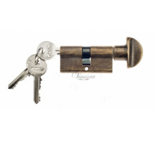 Ключевой цилиндр Venezia 70мм (30/40Т) ключ/вертушка бронза антич.