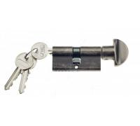 Ключевой цилиндр Venezia 70мм (40/30Т) ключ/вертушка антич. серебро