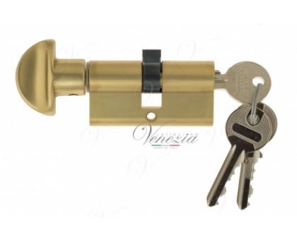 Ключевой цилиндр Venezia 70мм (40/30Т) ключ/вертушка франц. золото