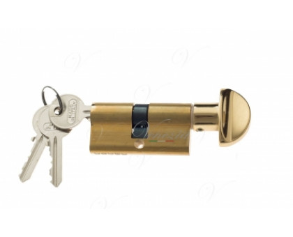 Ключевой цилиндр Venezia 70мм (40/30Т) ключ/вертушка полиров. латунь